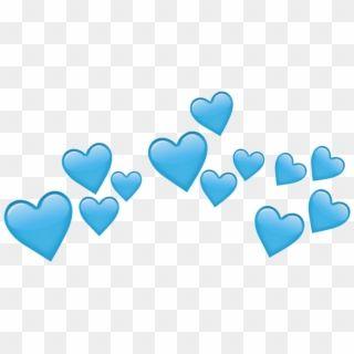 Transparent Crown Tumblr Png Blue Heart Crown Png Transparent Png Download Blue Heart Emoji Pink Heart Emoji Broken Heart Wallpaper