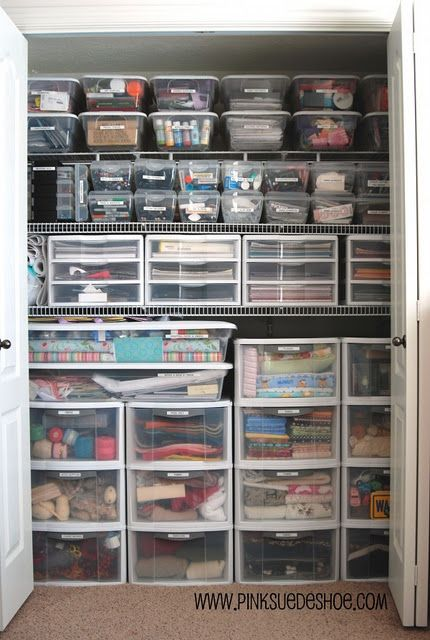 if I could organize my craft supplies like this it would reduce so much  stress in my life | Craft closets | Pinterest | Organizing, Organizations  and Craft