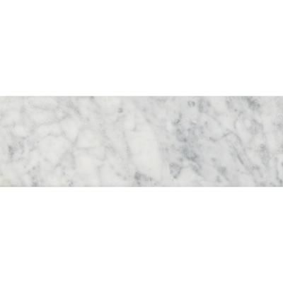 Msi Carrara White 4 In X 12 In Polished Marble Floor And Wall Tile 5 Sq Ft Case Tcarwht412p The Home Depot In 2020 Polish Marble Floor Marble Floor Floor And Wall Tile