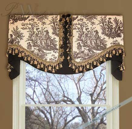 Unique Window Treatment Ideas Board Mounted Valance Window