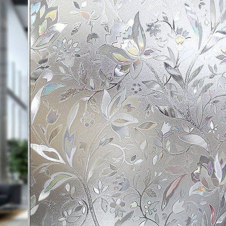 Tayyakoushi Premium No Glue 3d Static Decorative Frosted Privacy Window Films For Glass 45 X Stained Glass Window Film Window Film Privacy Frosted Window Film