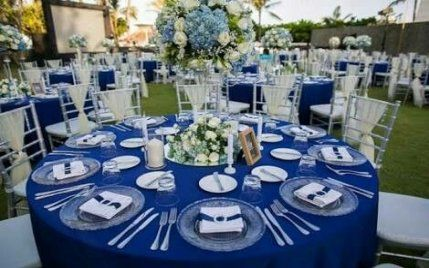 64 Ideas For Wedding Ideas Blue Royal Silver Grey Wedding Decor Silver Wedding Decorations Blue Silver Weddings