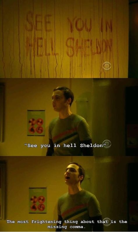 The Big Bang Theory. Sheldon Cooper❤ my thoughts exactly, bad grammar. I am a grammar Nazi The Big Theory, Big Bang Theory Funny, Funny Quotes, Funny Memes, Hilarious, Memes Humor, Funny Videos, Nerd Humor, Funny Comedy