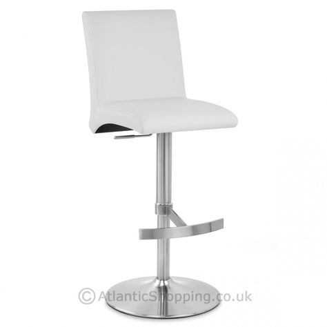 Astonishing Deluxe Brushed High Back Stool White Open Plan Living Short Links Chair Design For Home Short Linksinfo