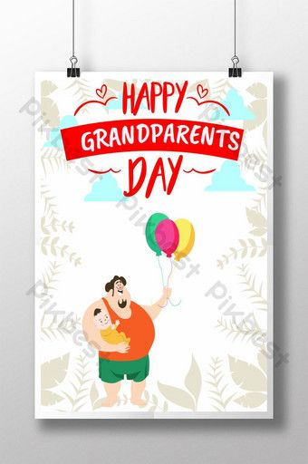 Happy Grandparents Day Ai Free Download Pikbest Happy Grandparents Day Printable Invitation Card Grandparents Day