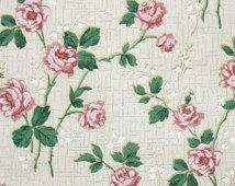 Vintage Wallpaper Floral By HannahsTreasures