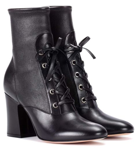 ec50c6ad9c2 GIANVITO ROSSI Palmer Leather Ankle Boots. #gianvitorossi #shoes #boots