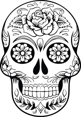 Free Clipart Of A Sugar Skull Skull Coloring Pages Skull