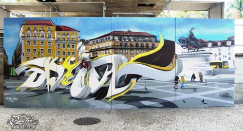 Best Street Art Images On Pinterest Street Art Portugal And - Incredible forced perspective graffiti artist odeith