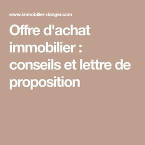 Offre D Achat Immobilier Conseils Et Lettre De Proposition