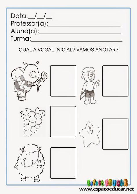 Atividades De Alfabetizacao Para Imprimir Vamos Ilustrar As