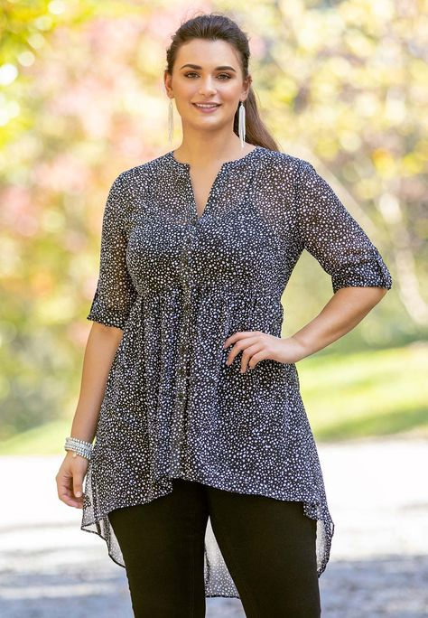 Houshelp Womens Knot Tunics Tops Blouses Tshirts Casual Long Sleeve Round Neck Loose Tunic Tshirt Blouse Splice Tops