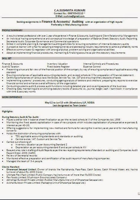 download resume examples Sample Template Example ofExcellent - standard format resume