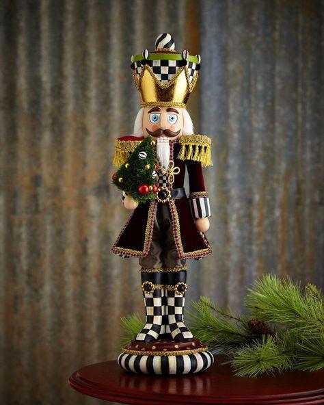 MacKenzie-Childs Trim the Tree Nutcracker Figure