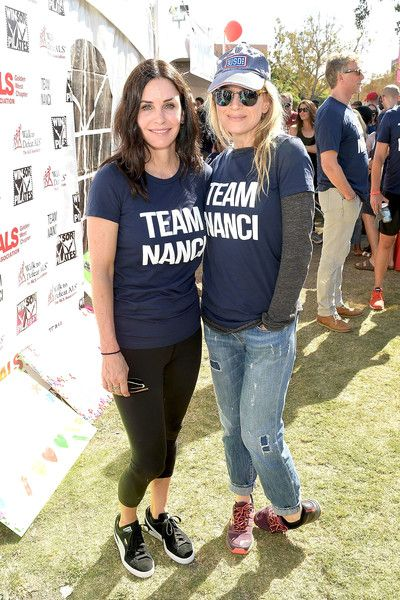 Actresses Courteney Cox and Renee Zellweger attend the Nanci Ryder's 'Team Nanci' participates in the 15th Annual LA County Walk to Defeat ALS.