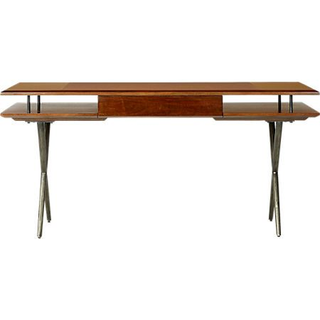 Jaxon Wood And Leather Desk Reviews Cb2 Leather Desk Desk Iron Desk