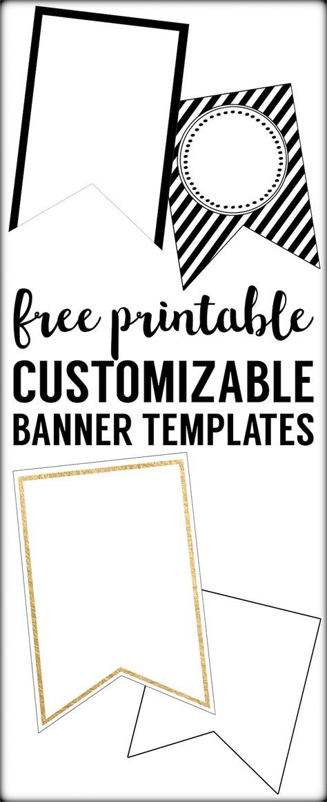 Free Printable Banner Templates Blank Banners Paper Trail Design Printable Banner Template Diy Banner Template Free Printable Banner