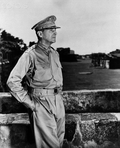 Douglas MacArthur, the US Army general and commander of Allied