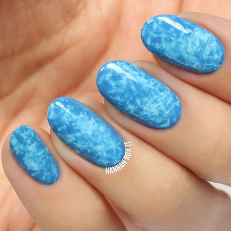 Gorgeous Blue Nail Designs to Copy ★ See more: https://naildesignsjournal.com/gorgeous-blue-nail-designs/ #nails