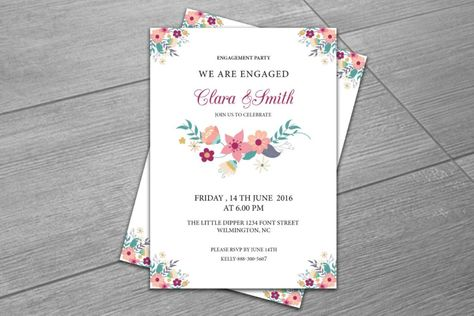 20+ Engagement Invitation Template Word, InDesign and PSD Format - format of engagement invitation