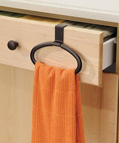 Bronze InterDesign Axis Over Cabinet Curved Kitchen Dish Towel Bar