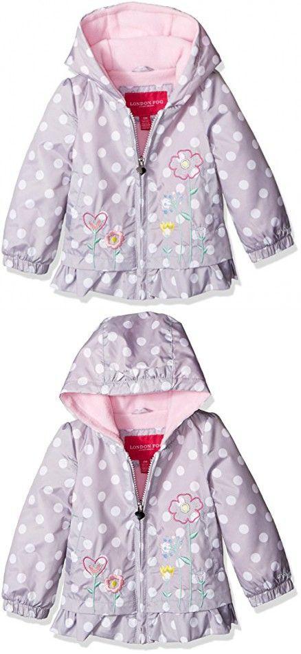 London Fog Girls Little Puffer Jacket with Novelty Hat