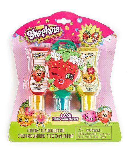 Shopkins Three Pack Tropical Hand Sanitizer Set Zulily Hand