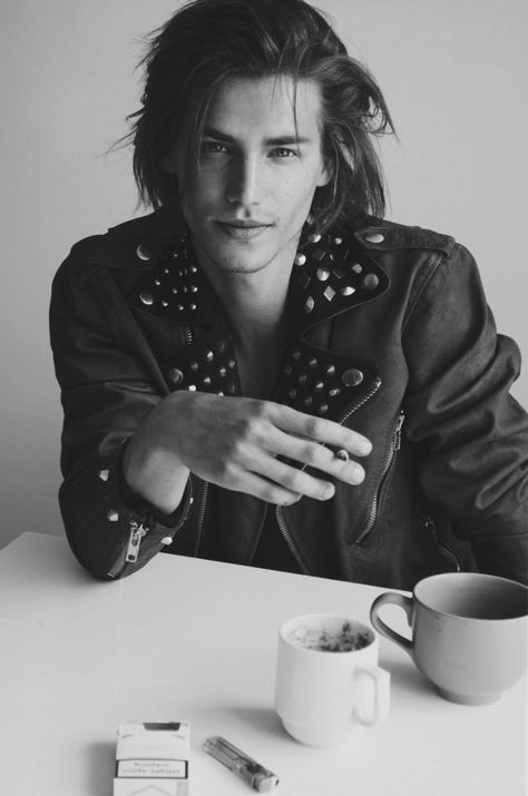Matous Tichy is Casual Rock Vision in Denim & Leather