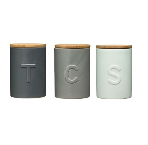 Fenwick Tea Coffee & Sugar Canisters Storage Solution Complementary Design Jars