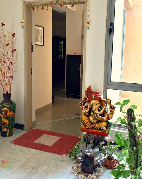 Home Tour Rashmi Chandra Entrance Decor Indian Home Interior