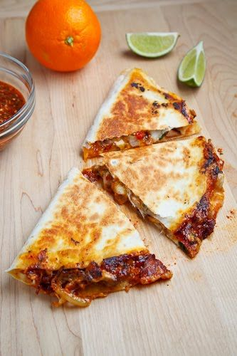 Sweet Chili Chicken Quesadilla: Recipe Courtesy of Kevin Lynch