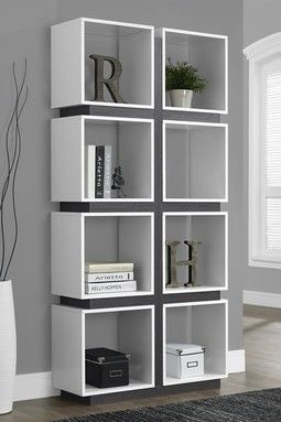 Eight Cube White Grey Bookcase Home Decor Pinterest Shelving And Modern China Cabinet