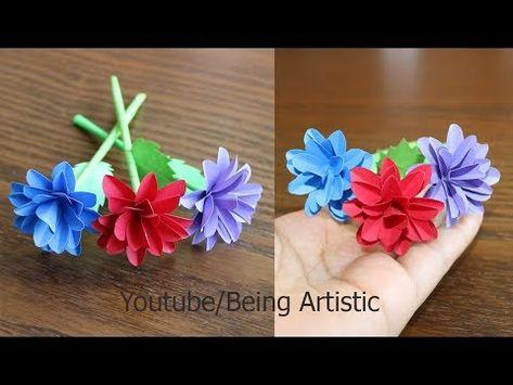 How To Make Small Paper Flower Diy Handmade Craft Paper Craft
