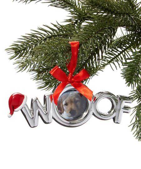 Dei Silver Woof Frame Ornament Zulily Ornament Frame Ornaments Christmas Decorations
