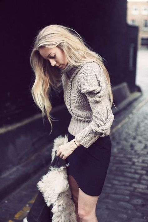 This chunky sweater makes our day l wantering.com