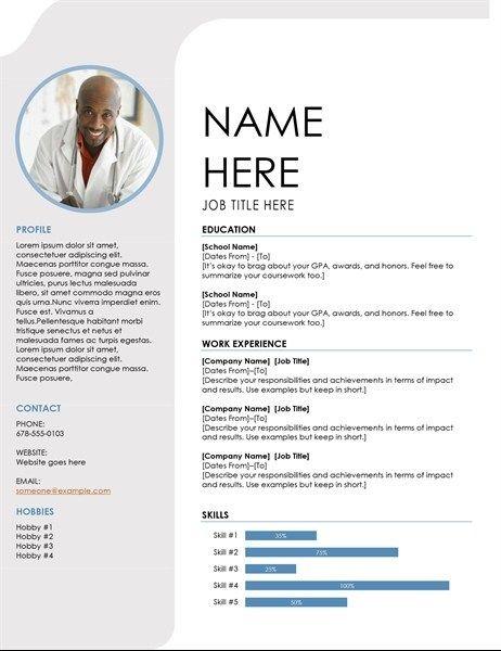 Blue Grey Resume In 2020 Resume Template Word Microsoft Word Resume Template Student Resume Template