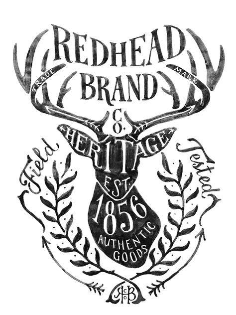 Bass Pro Shop Redhead Brand On Behance Tipografia Digital