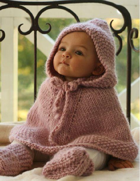 bébé poncho tricot Drops Design