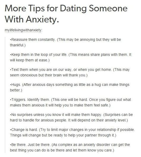 How To By With Dating Someone With Anxiety