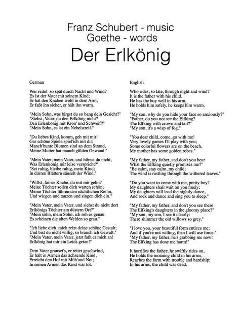 Der Erlkonig Johann Wolfgang Von Goethe Zitate Deutsche