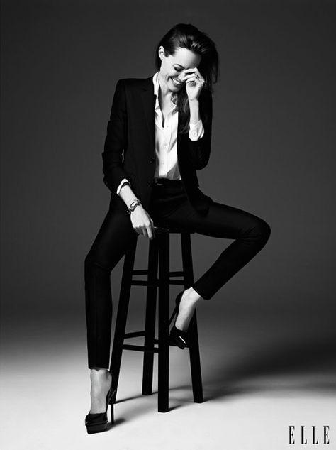 Angelina Jolie - Hedi Slimane 2014 photoshoot for Elle magazine Elle Magazine, Portrait Photography, Fashion Photography, Photography Magazine, Editorial Photography, Monochrome Photography, Foto Fashion, Style Fashion, Fashion Beauty