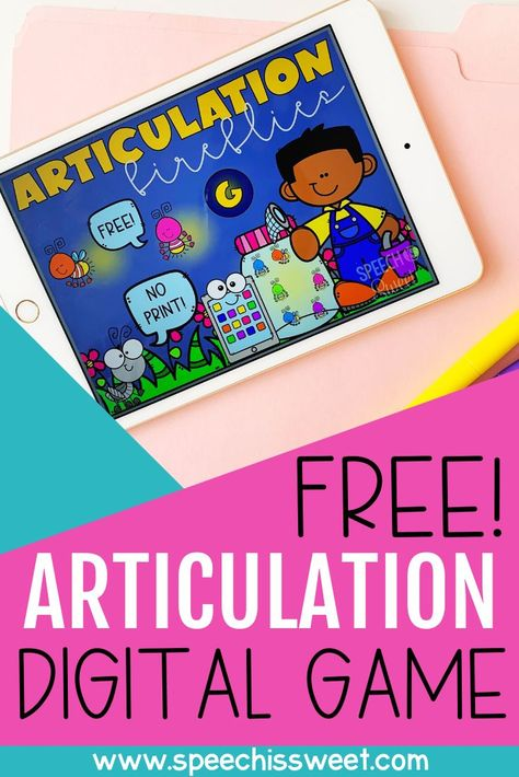 Free Digital Articulation Game for Speech Therapy Articulation Therapy, Articulation Activities, Speech Therapy Activities, Language Activities, Speech Therapy Games, Speech Language Pathology, Speech And Language, Email Address, Family Game Night