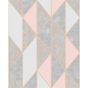 Super Fresco Milan Geo Vinyl Peelable Roll Covers 56 Sq Ft 106532 The Home Depot Gold Removable Wallpaper Rose Gold Wallpaper Vinyl Wallpaper