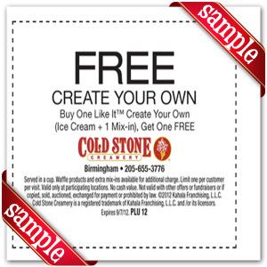 graphic about Cold Stone Printable Coupon known as Pinterest Пинтерест