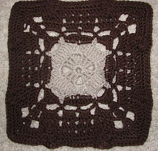"""Day 21: 12"""" Block of the Day - August Aran Square by Marlo D Cairns  Free Pattern: http://www.marloscrochetcorner.com/august%20aran%20square.html  #TheCrochetLounge #12inch #grannysquare Pick #crochet"""