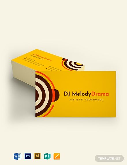 Simple Dj Business Card Template Word Doc Psd Apple Mac Pages Illustrator Publisher Music Business Cards Dj Business Cards Business Card Template Word