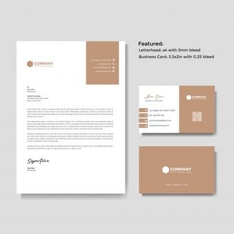 Professional Creative Letterhead And Business Card Template Stationery Design Branding Letterhead Business Graphic Design Business Card
