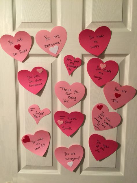 Every morning before my almost 4-yr old son woke up I put another heart on his door. We could never tell the ones we love how special they are enough. #healthcoach #valentinesday #blissfulexistence #vitaminL