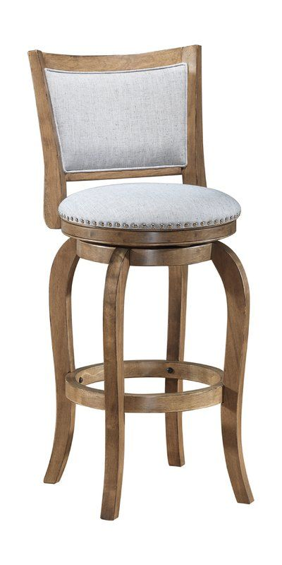 Prevost Wooden Swivel Bar Counter Stool Bar Stools Wooden