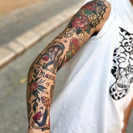 62 Ideas Tattoo Old School Men Ink American Traditional Traditional Tattoo Sleeve Old School Tattoo Sleeve Arm Tattoo